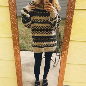 Chunky Forest Inspired Knit Sweater